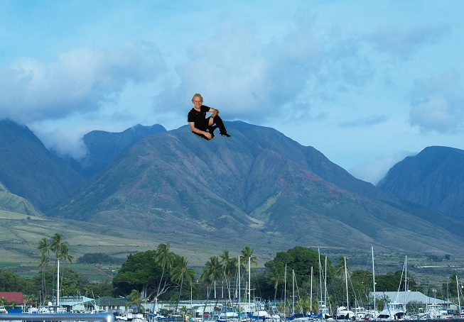 Terry on a mountain in Maui.